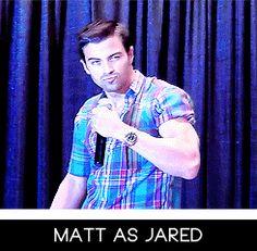 Matt Cohen as Jared Padalecki... HAHAHAHA!! He's perfect!!! :D