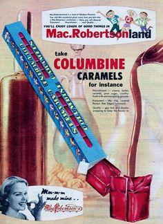 MacRobertson Columbine Caramels ~ Australia 1960.