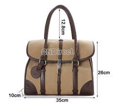 Fashion Womens Retro Vintage Nubuck Leather Handbag Shoulder Bag Tote Bag - Tote Bags - Womens Handbags & Bags - Clothing, Shoes & Accessories