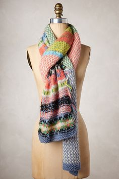 beautiful colorful heirloom handknit scarf 25% off with HOLIDAY25 #anthrofave #BlackFriday http://rstyle.me/n/t73g5r9te