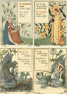 Walter Crane ~~~~                BETHLEHEM' STAR ,ST. JOHN'S-WORT,LOVE-IN-A-MIST Walter Crane, Book Creator, English Artists, Classic Books, Magazine Art, Book Illustration, Vintage Art, Mists, Illustrators