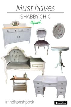 Oh so chic! Make your room look like it is straight from a fairy tale - find shabby chic furniture on Shpock. Download the free app now! #shabbychic #furniture #finditonshpock