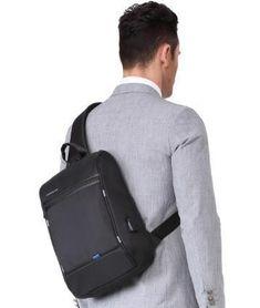 94842ef1b6 KINGSONS Sleek Black Backpack. BagPrime - Global Prime Bag Fashion Platform