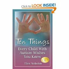 Ellen's personal experiences as a parent, an autism columnist, and a contributor to numerous parenting magazines coalesce to create a guide for all who come in contact with a child on the autism spectrum. Don't buy just one of this book- buy one for everyone who interacts with your child! Give the gift of understanding.