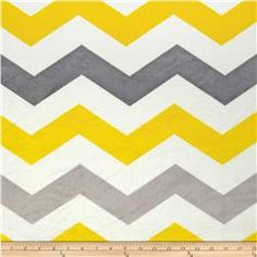 Minky 1 3/4'' Chevron Grey/Yellow this one is my favorite, but not sure about the grey in their nursery and maybe not masculine enough?