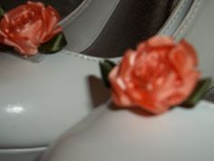 Bridal Shoe Clips  set of 2  Peach Roses and by ShoeClipsOnly, $16.00