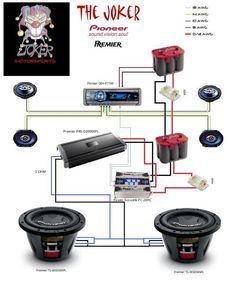 car audio wiring diagrams subwoofer trailer diagram 7 way plug amplifier excursions pinterest cars 2001 kia sephia install