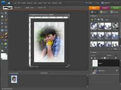 Digital Scrapbooking Tutorial - Making a Vignette Photo Photoshop Elements, Photoshop Tutorial, Vignettes, Digital Scrapbooking, Bubbles, Tutorials, Paper, Youtube, Design