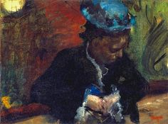 At the Theatre/ Woman Seated in the Balcony - Edgar Degas