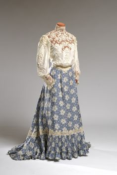 Fashions From History — Ensemble Agnes Etherington Art Centre 1900s Fashion, Edwardian Fashion, Vintage Fashion, Fashion Fashion, Antique Clothing, Historical Clothing, Historical Dress, Belle Epoque, Vintage Gowns