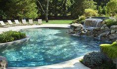 Fantastic Sense of Natural Rock Swimming Pool Design Ideas : Elegant Natural Rock Swimming Pool Designs Ideas