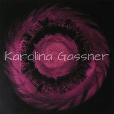 """Purple Circles"" by Karolina Gassner © acrylic on canvas, cm. Acrylic Paintings, Circles, Celestial, Canvas, Purple, Create, Outdoor, Art, Tela"