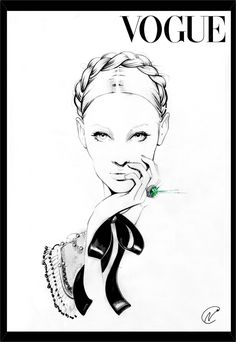 New Fashion Ilustration Vogue Hand Drawings Ideas Vogue Magazine Covers, Vogue Covers, Jewelry Illustration, Illustration Art, Anna Wintour, Fashion Sketches, Fashion Illustrations, Contemporary Fashion, Fashion Art