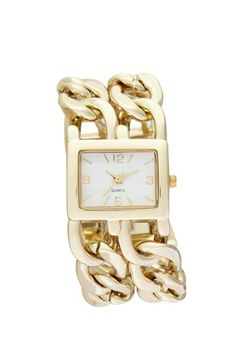 Titanium Double Chain Strap Watch, 27mm (Juniors) available at #Nordstrom