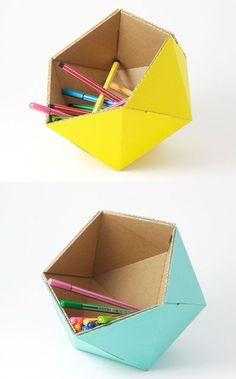 DIY Cardboard Basket