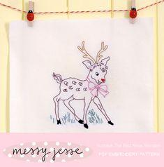 MessyJesse: Christmas Reindeer Embroidery Pattern