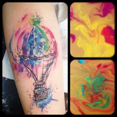 #royaleink #tattoo #colorstattoo #watercolortattoo #airballoontattoo #airballoon #colors #ink #tattoolife #inspirationtattoo #inklife #inkcolor #carolinacaosavalle #voghera