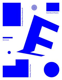 Zak Jensen (MFA 2011) will be talking at The Design Office in Providence, RI on July 22 at 5pm.