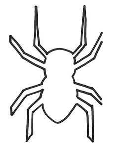spider template, for decor of your choice (I'm thinking garland) Moldes Halloween, Halloween Templates, Adornos Halloween, Halloween Ii, Halloween Crafts For Kids, Halloween Spider, Halloween Pictures, Halloween Projects, Diy Halloween Decorations