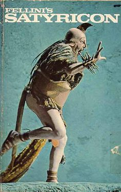 paperback bookcover for fellini's satyricon