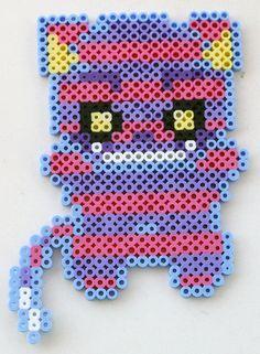 Cheshire Cat  Perler Bead Chibi Alice in Wonderland Fridge Magnet or Wall Art by theplayfulperler