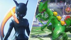 Pokken Tournament Gameplay, Pokemon Characters: Sceptile (Pokemon 2016 G...