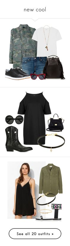 """""""new cool"""" by needlework ❤ liked on Polyvore featuring Yves Saint Laurent, Madewell, rag & bone, NIKE, Dolce&Gabbana, Chan Luu, shorts, saintlaurent, camouflage and Topshop"""