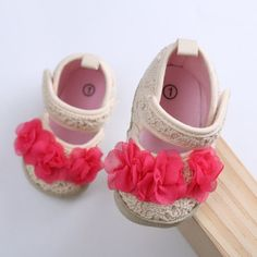 Baby Girls Soft Sole First Walkers 0-18month