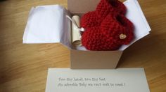 Baby Booties Pregnancy Announcement Crochet by Mittenandtheyarn
