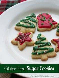 A recipe for gluten-free sugar cookies that can be cut out and decorated for the holidays or any occasion.
