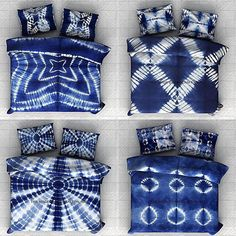 PURE COTTON AFRICAN INDIGO SHIBORI BEDCOVERS COLLECTION | JOELLESTORE: