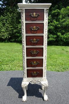 Beautifully Refinished & Modernized One-of-a-Kind Lingerie Chest Armoire Makeover, Furniture Makeover, Diy Furniture, Laminate Furniture, Upcycled Furniture, Rustic Furniture, Jewelry Armoire, Jewelry Box, Jewelry Cabinet