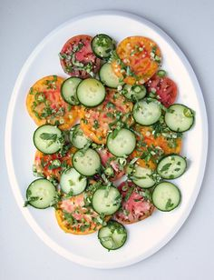 Pin for Later: 17 Healthy Cucumber Recipes to Cool Down Your Summer Southeast Asian Tomato Cucumber Salad Get the recipe: Southeast Asian tomato cucumber salad