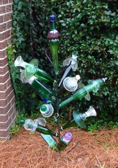 Little Green Whimsey Bottle Tree