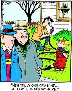 Dennis the Menace Cartoon for Nov/12/2013