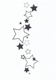 cluster of stars tattoo designs | Star Tattoo 1 by ~cr416l1ndl3y on deviantART