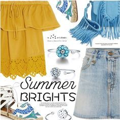 Summer Brights by totwoo on Polyvore featuring moda, Madewell, R13, Aquazzura and Sam Edelman