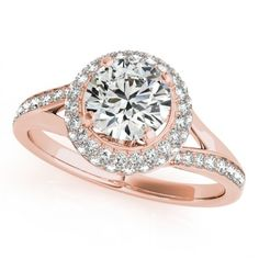 KHLOEE ENGAGEMENT RING in 14K Rose Gold - Price: ₹50,547.00. Buy now at http://www.solitairehouse.com/khloee-engagement-ring-in-14k-rose-gold.html