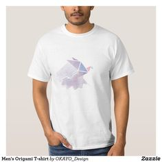 Shop Men's Origami T-shirt created by OKAYO_Design. Personalised Blankets, Holiday Photo Cards, Custom Clothes, Origami, Shop Now, Man Shop, Mens Fashion, Mens Tops, T Shirt