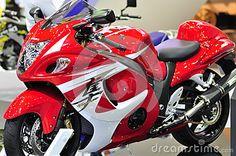 4-stroke 4-cylinder Suzuki Hayabusa at the 36th Bangkok International Motor Show 2015
