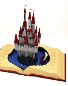 Pop-up book Lego art by Nathan Sawaya. #LegoArt
