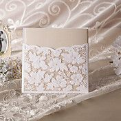 Elegant Floral Cut Wedding Invitation (Set of... – USD $ 119.99