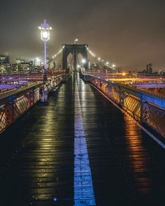 Brooklyn Bridge at night by Sam Horine by newyorkcityfeelings.com - The Best Photos and Videos of New York City including the Statue of Liberty Brooklyn Bridge Central Park Empire State Building Chrysler Building and other popular New York places and attractions.