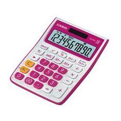 10 számjegyû, NAGY DÖNTÖTT KIJELZÕ, ÁFA számítás, idõszámolás, elem+napelem, utolsó szám javítása, gyökvonás, %, 00, +/-, COLOURFUL & FRIENDLY DESIGN sorozat, rózsaszín (Radish Red)