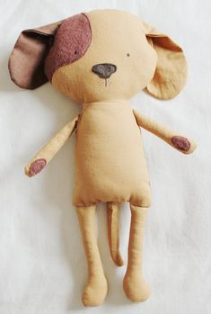 Dog Sewing Pattern Puppy Softie Plush Toy Cloth Doll by ElfPop