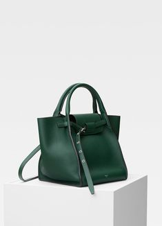 163104e59e0 Small Big Bag with long strap in supple grained calfskin