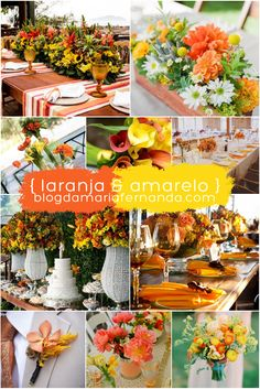 Decoração de Casamento : Paleta de Cores Laranja e Amarelo | http://blogdamariafernanda.com/decoracao-de-casamento-paleta-de-cores-laranja-e-amarelo