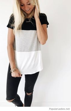 Black and white home outfit