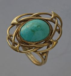 Gold Turquoise Ring, Archibald Knox, Liberty & Co., United Kingdom, c.1900