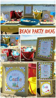 Beach Birthday Party - includes beach party food ideas, beach party games, beach party decor and more!